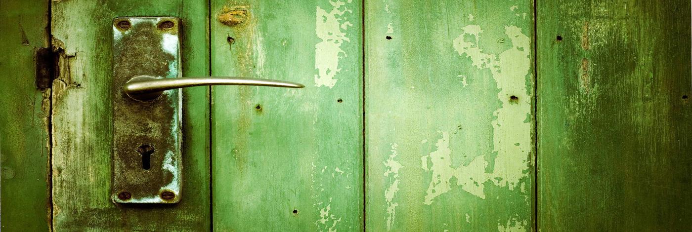 drzwi zielone
